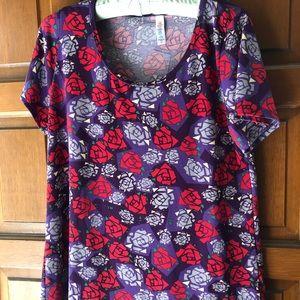 LuLaRoe Classic purple with roses